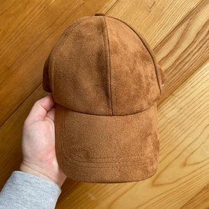 Free People Brooklyn Vegan Suede Baseball Hat